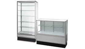 aluminum glass showcases