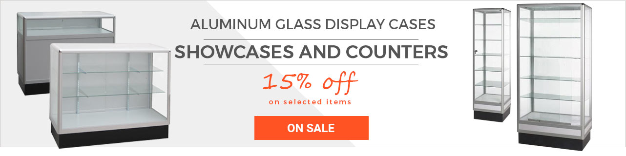 Glass Displays and Store Fixtures Sale