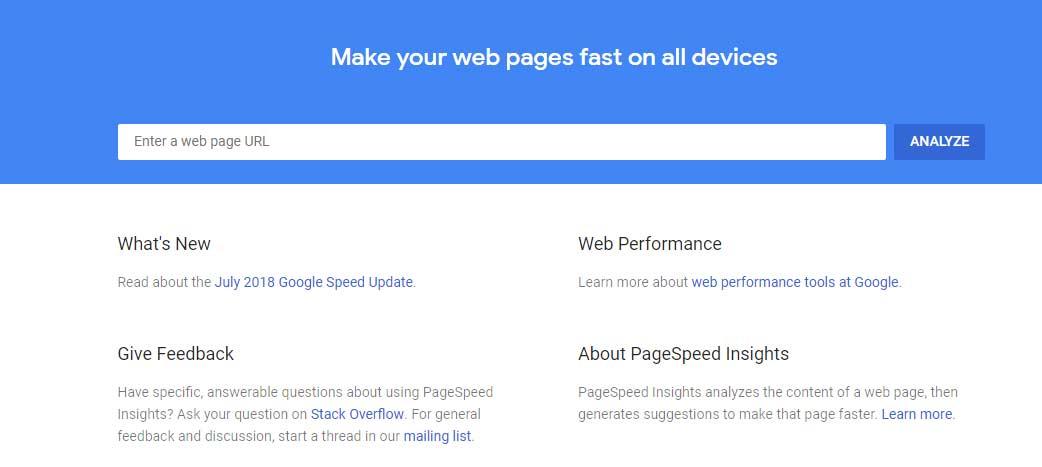website speed checker